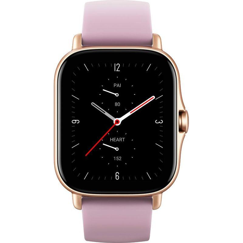 Смарт-часы Xiaomi Amazfit GTS 2e золотистый с фиолетовым ремешком