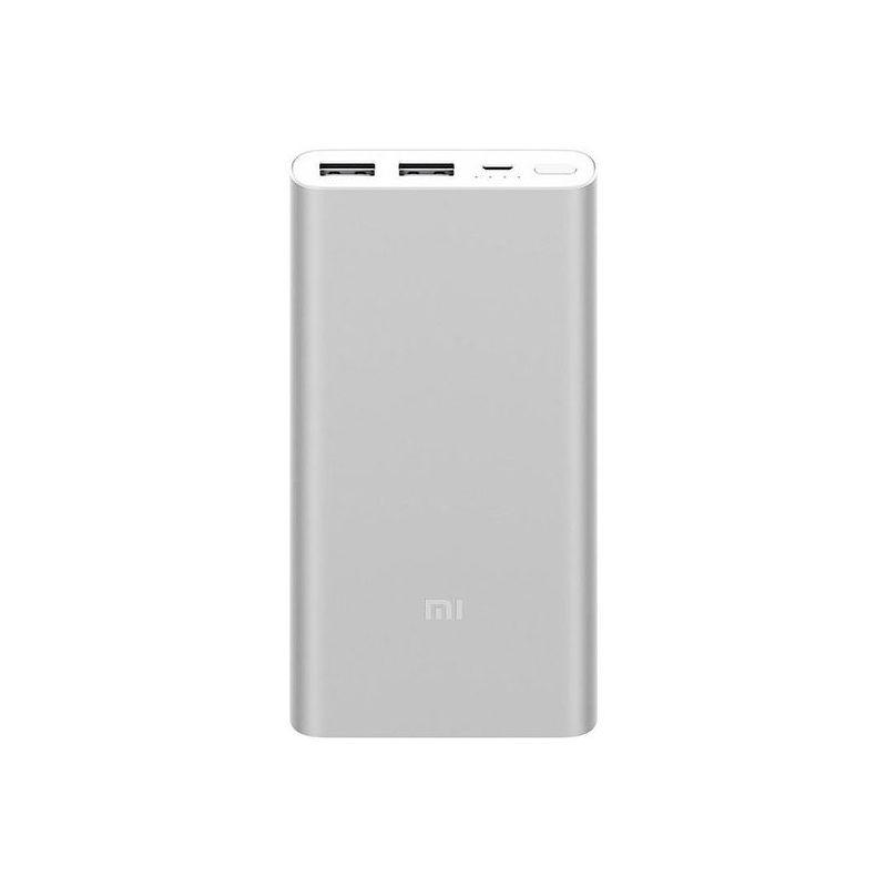 Портативный аккумулятор Xiaomi Mi Power Bank 2S (2i) 10000 mAh серебристый (PLM09ZM)