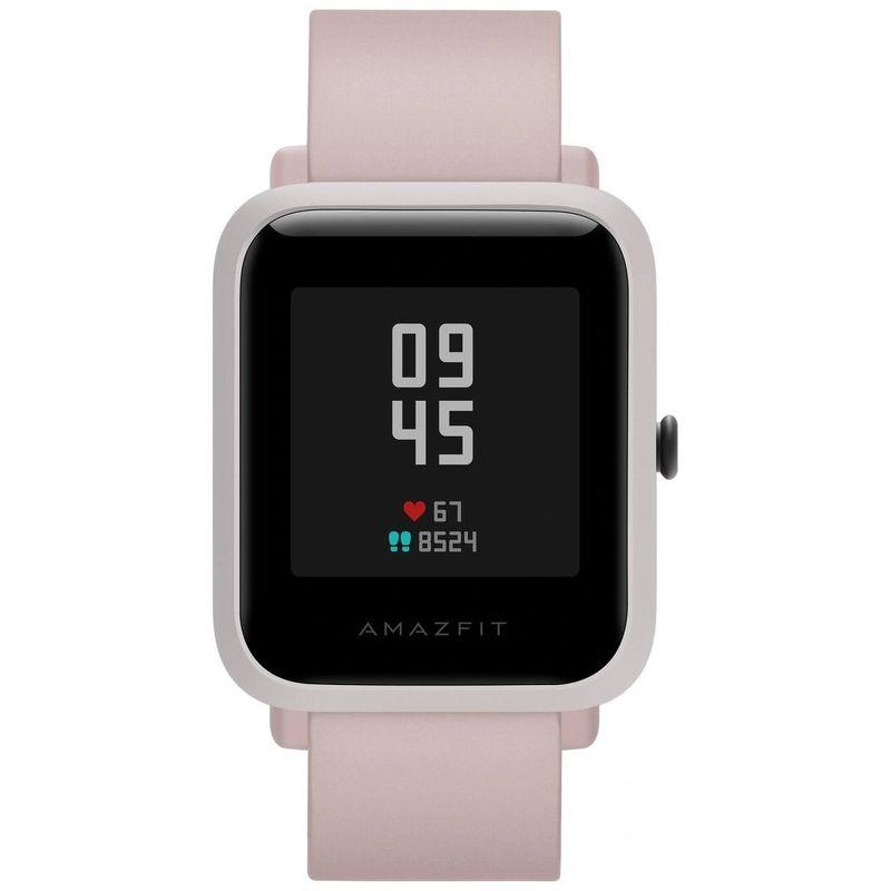 Смарт-часы Xiaomi Amazfit Bip S розовый с розовым ремешком