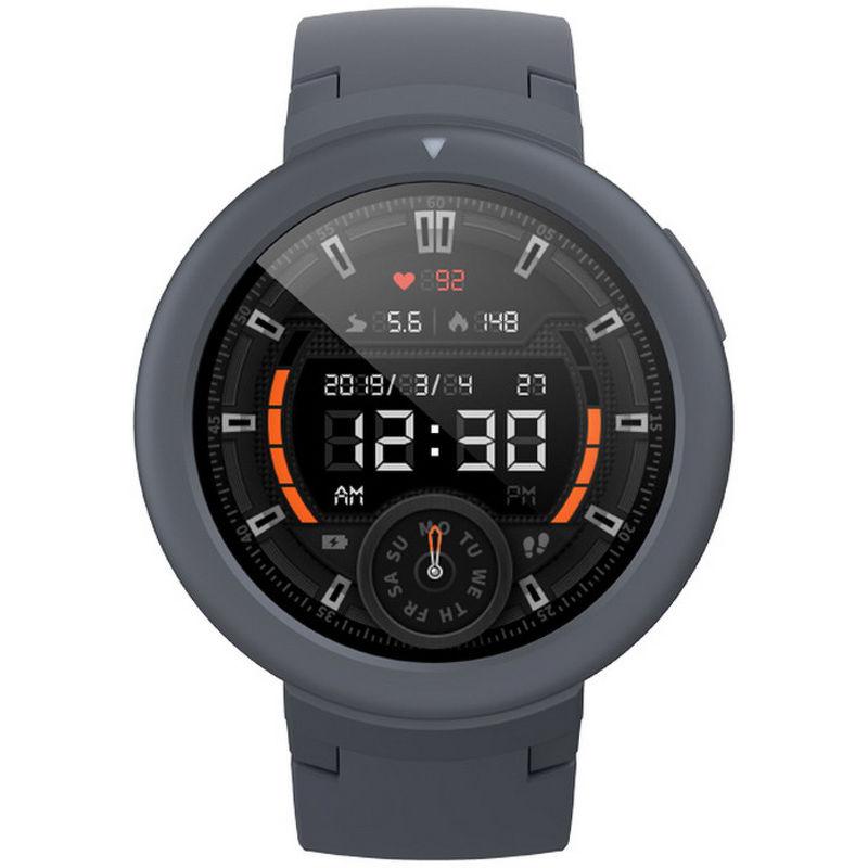 Смарт-часы Xiaomi Amazfit Verge Lite серый с серым ремешком